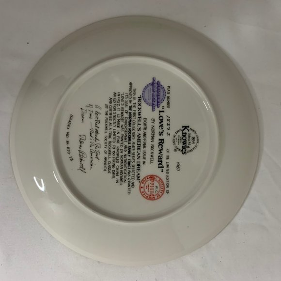 Norman Rockwell Loves Reward Collector Plate